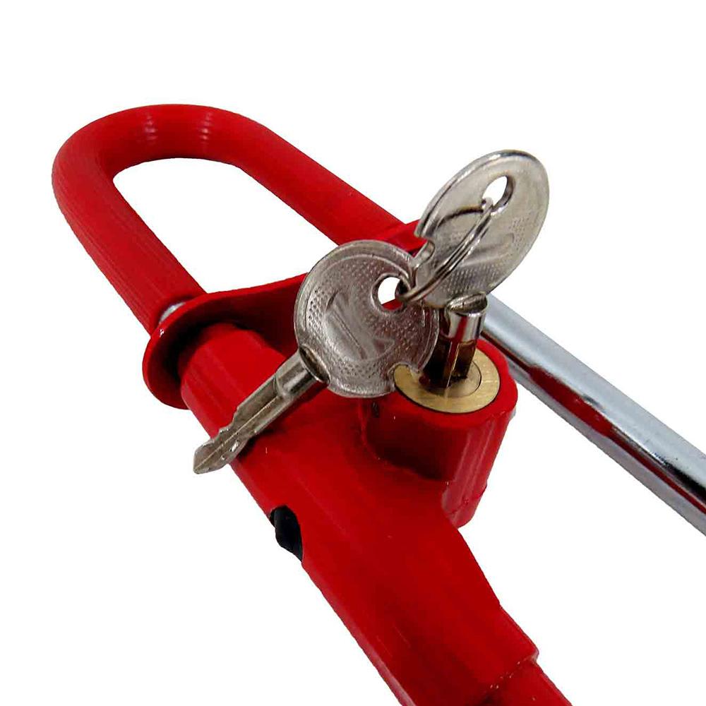 Trava Anti Furto Universal Volante Pedal Chave Antimicha