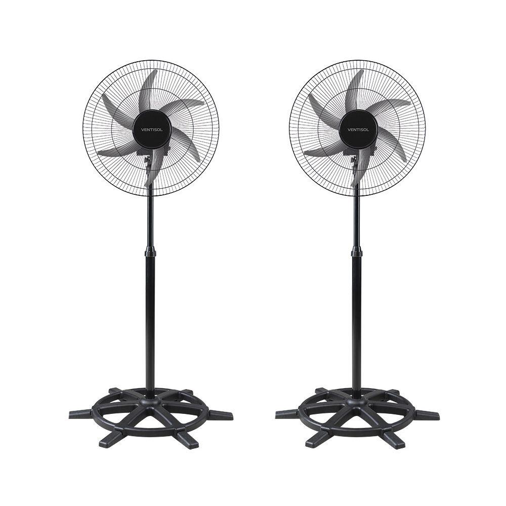 Ventilador De Coluna Oscilante Bivolt 50cm Steel Ventisol 2 Unidades