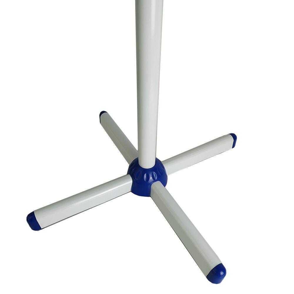 Ventilador De Coluna Pedestal 127V Branco/Azul Segma  2 Unidades
