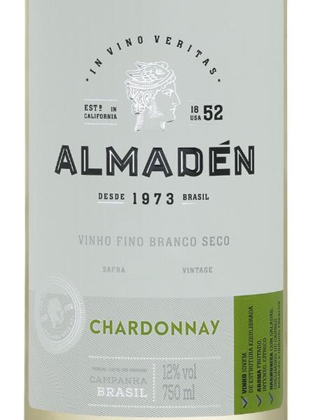 Almadén Vinho Fino Branco Seco Chardonnay 2021 750ml