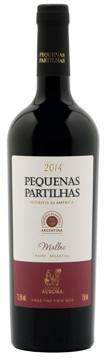AURORA PEQUENAS PARTILHAS MALBEC ARGENTINA 750 ML