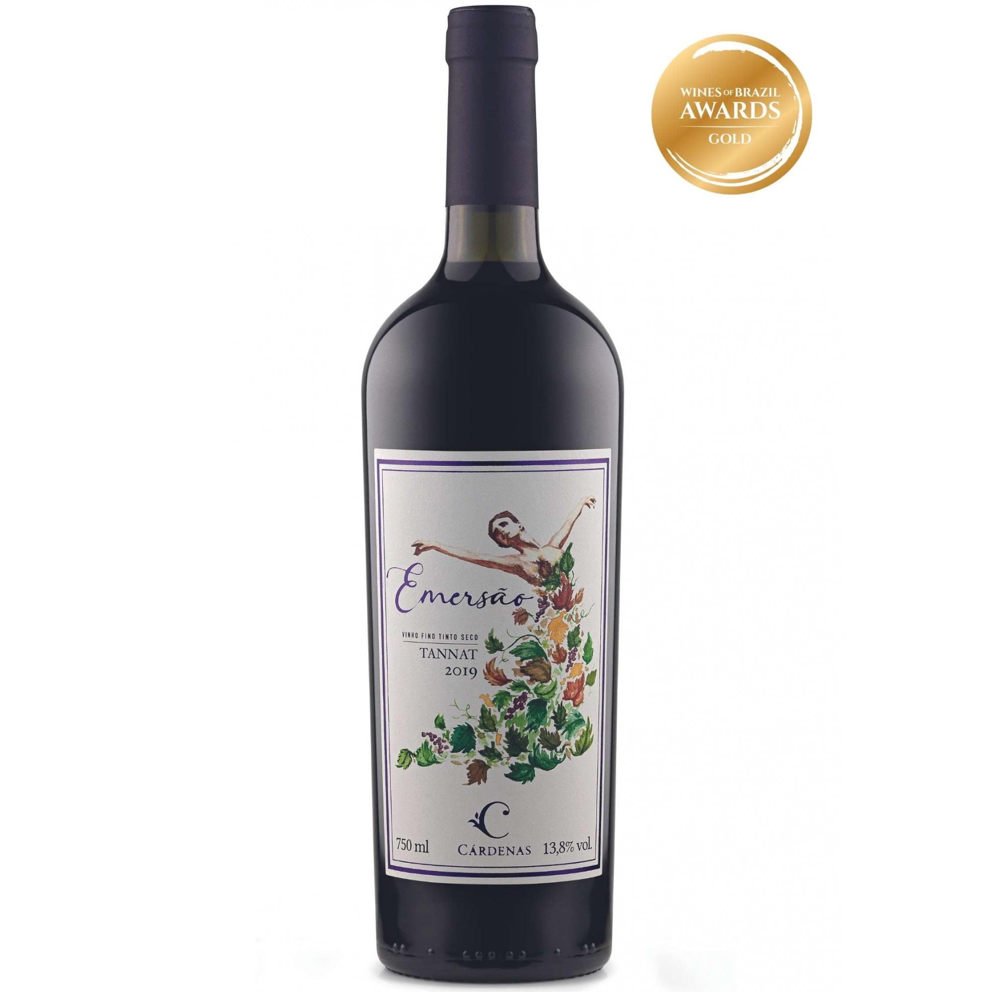Cárdenas Vinho Tinto Emersão Tannat 2019 750ml