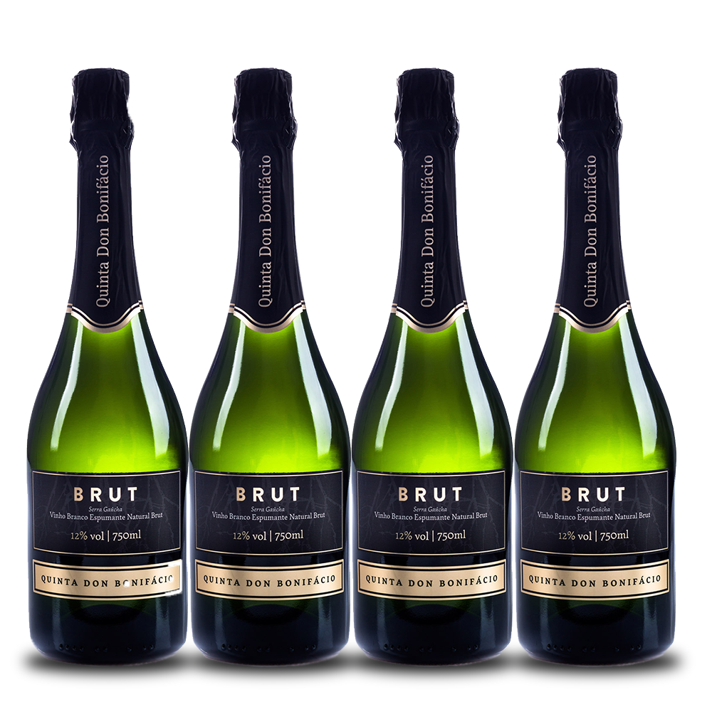 Kit 4 espumantes Quinta Don Bonifácio Brut 750ml