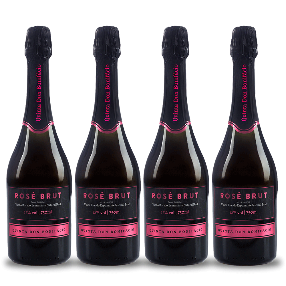 Kit 4 Espumantes Quinta Don Bonifácio Brut Rosé 750 ml