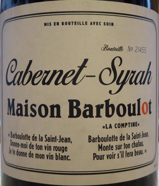 MAISON BARBOULOT CABERNET SYRAH-750ml