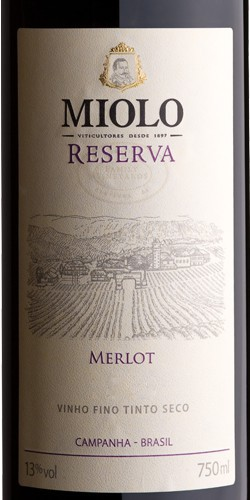 MIOLO RESERVA MERLOT - 750ML