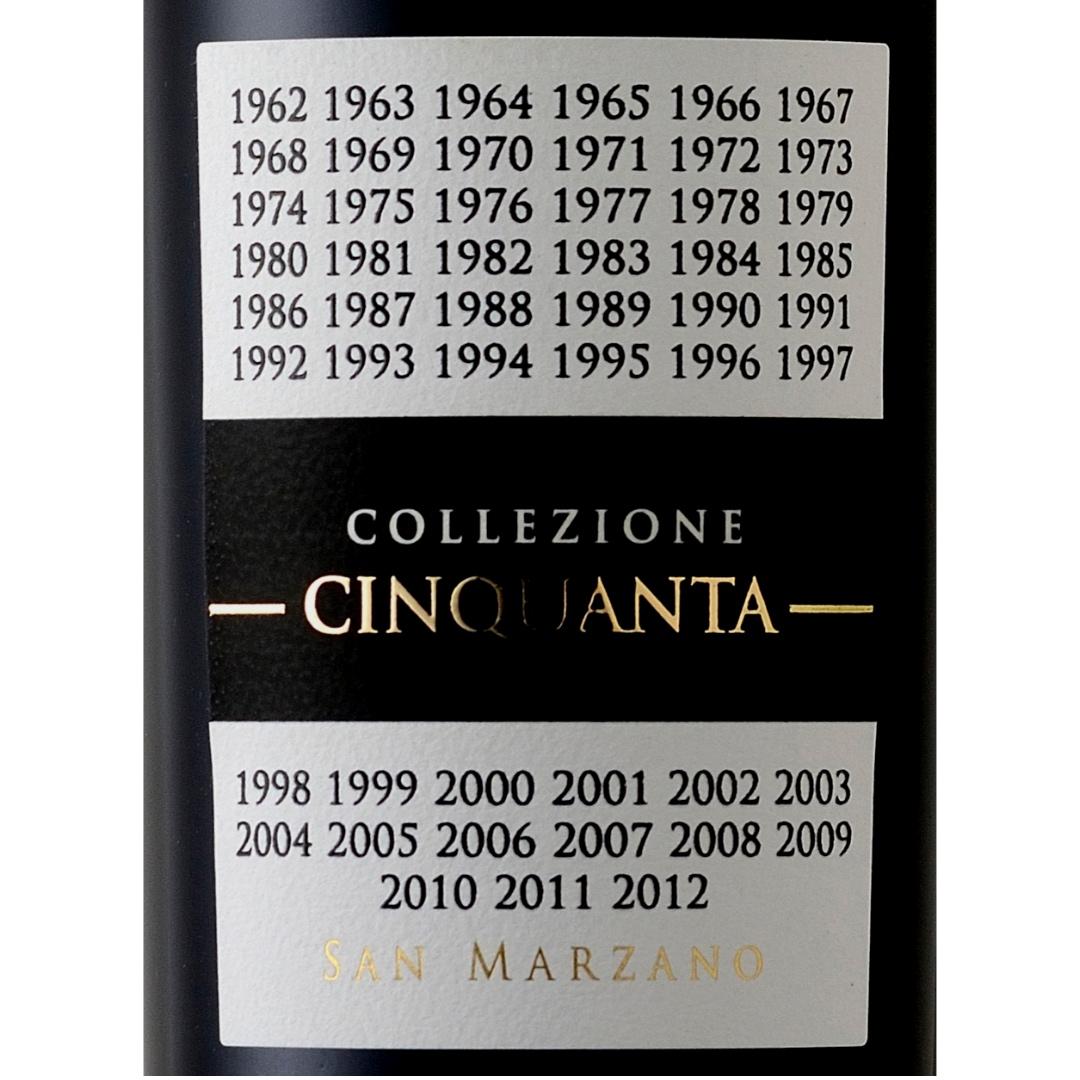 San Marzano Collezione Cinquanta Vino Rosso d'Italia 750ml