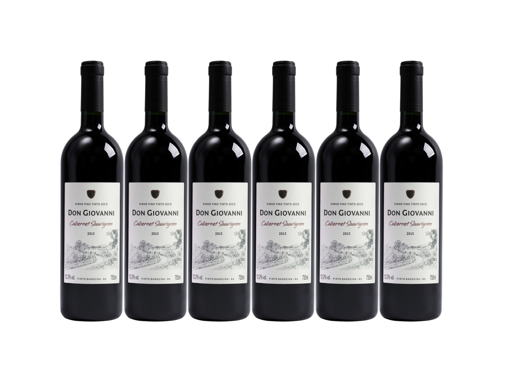Vinho Don Giovanni Cabernet Sauvignon 2015 750ml - Pack c/ 06