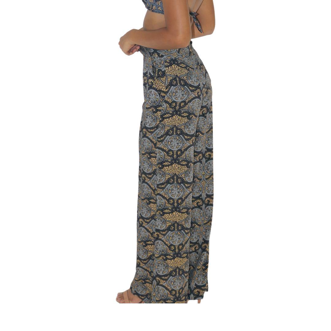 Calça Pantalona Zíper Artesão