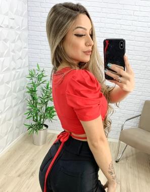 Blusa Amarração na Cintura MBR 3937 - VERMELHO