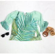 Blusa Estampa Folhas PLT 01