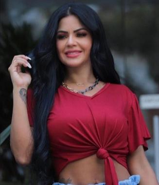 Blusa Suede Amarração CMS 42 Vermelho