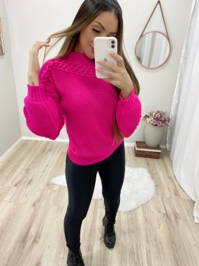 Blusa Tricot Le Cardan POT 60 Pink
