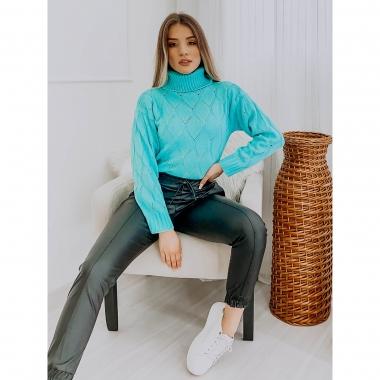 Blusa Tricot Quads POT 32 Azul