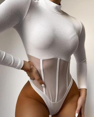 Body Canelado La Gringa RSC 01 Branco