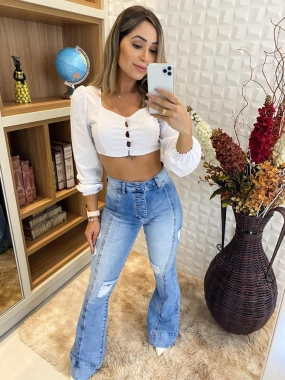 Calça Flare Jeans CCJ 845