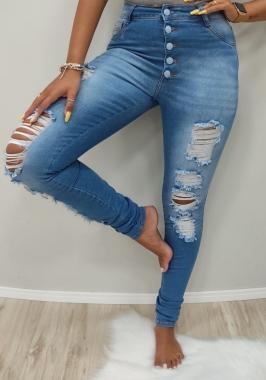 Calça Jeans Botões Encapados CCJ 817