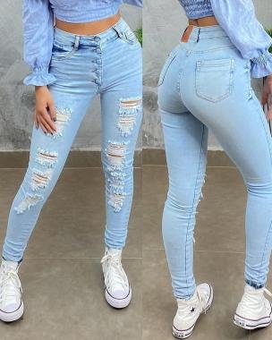 Calça Jeans Carmen Destroyed CCJ 914