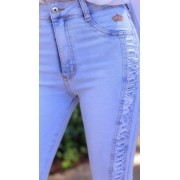 Calça Jeans CARMEN Lateral Destroyed CCJ 889