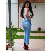 Calça Jeans Com Cordão MB 252