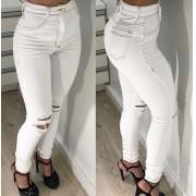 Calça Jeans Crystal Rasgos Joelho CCJ 013