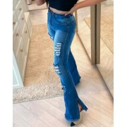 Calca Jeans Flare C/ Cinto Pilly MLD 075