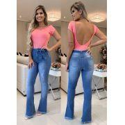 Calça Jeans Flare Com Cinto DPO 49