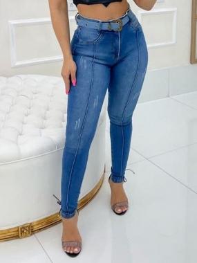 Calça Jeans Pilily Com Cinto MLD 9923