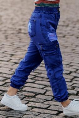 Calça Jeans Sal e Pimenta Cargo CJ 030