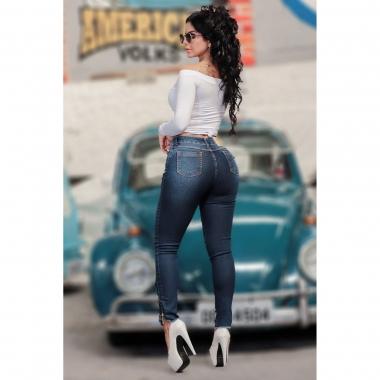 Calça Jeans Ziper na Barra CCJ 1019