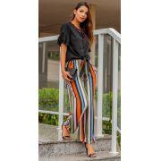 Calça Pantalona Amarração PLT 67
