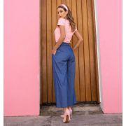 Calça Pantalona Estilo Jeans PLT 11