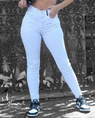 Calça Skinny Branca com Elastano CNS 20222