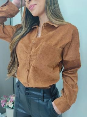 Camisa Aveludada JNY 09 Caramelo
