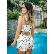 Cjto Crop + Shorts Flamingo Stl 94