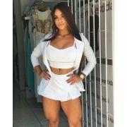 Conjunto Blazer Cropped Shorts Saia BLA 09