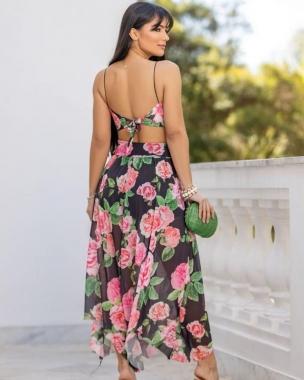 Conjunto Flores do Caribe JMD 35 - Preto