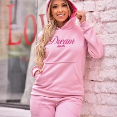 Conjunto Moletom Dream SFR 02 Rosa
