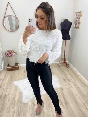Cropped Fashion Pelinhos Mg Flare JNY 06 Branco