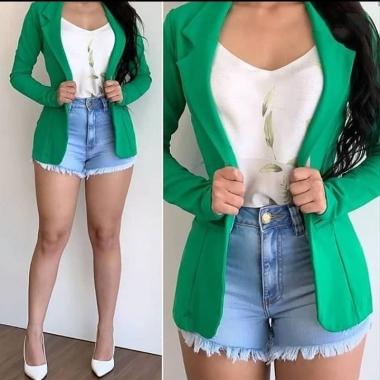 Maxi Blazer Bengaline BLD 32 Verde