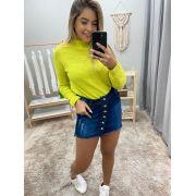 Saia Botões Jeans DPO 33