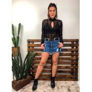 Saia Jeans Botões CCJ 588