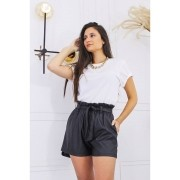 Shorts Clochard Couro Eco TOD 21