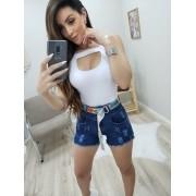 Shorts Jeans com Cinto MLD 099