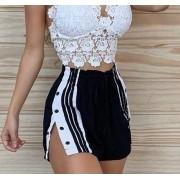 Shorts Listras e Botões GRM 01