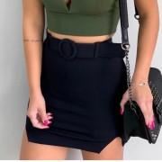 Shorts Saia Fendas Com Cinto KKA 28