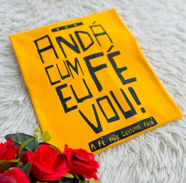 T-Shirt Anda Cum Fé WGR 31 - Amarelo