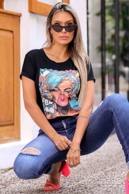 T-shirt Babaloo GBB 297 - PRETO