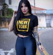 T-Shirt com Aplique FBX 30