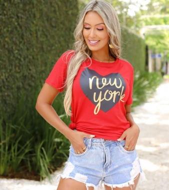 T-Shirt Coração NY GBB 271